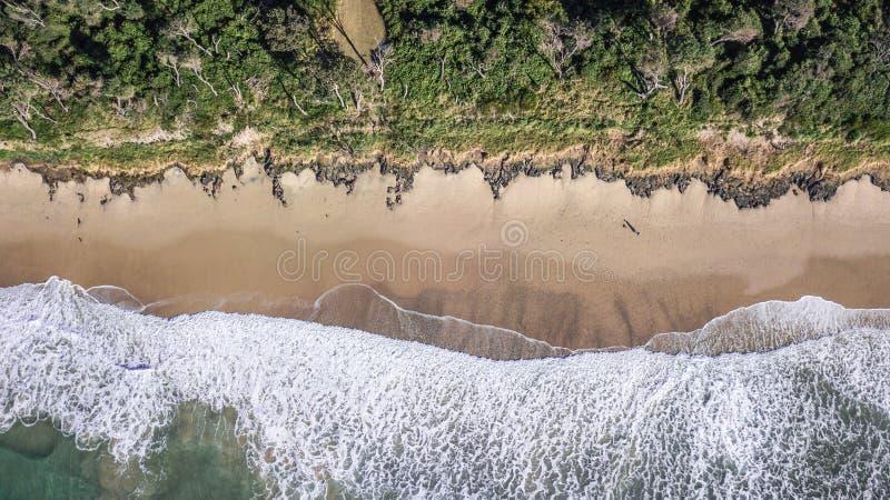 Playa de Bonny Hills desde arriba fotografía de archivo