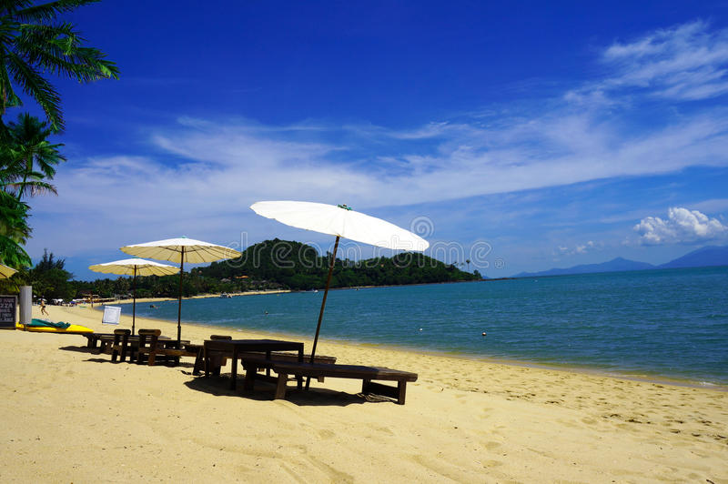 Playa de Bophut imagen de archivo
