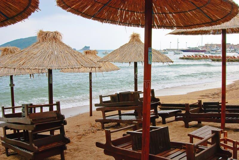 Playa de Budva fotografía de archivo libre de regalías