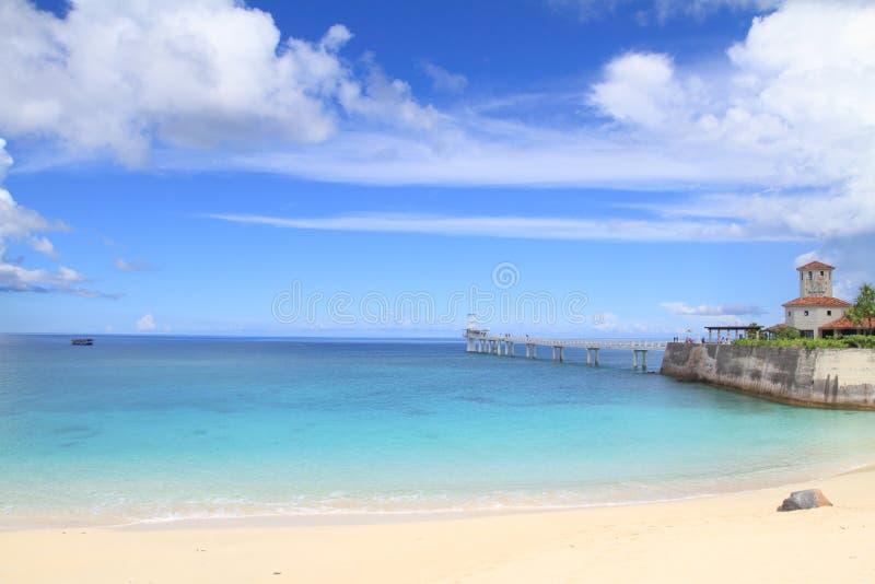 Playa de Busena en la ciudad de Nago foto de archivo libre de regalías