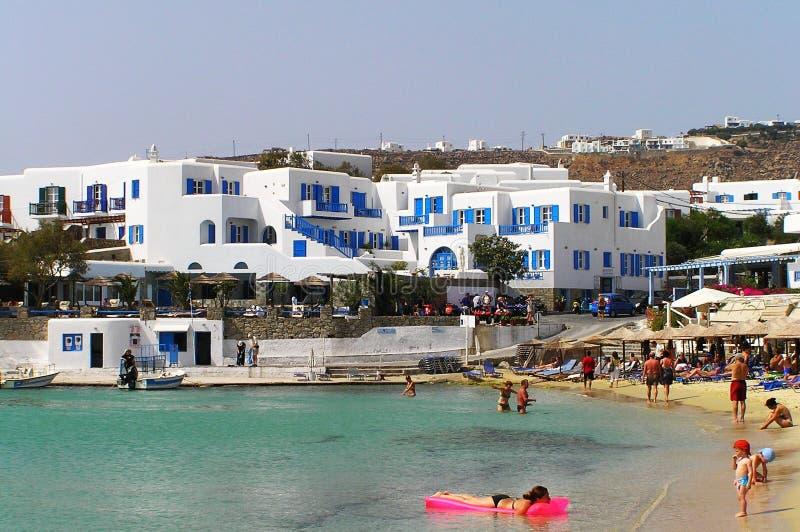 Playa de Cícladas foto de archivo