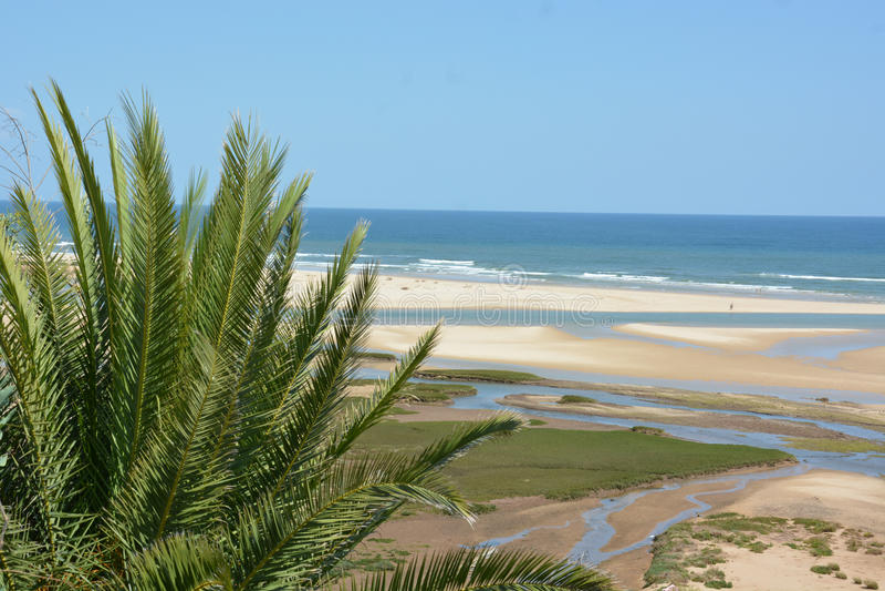 Playa de Cacela Velha - Algarve imagen de archivo libre de regalías