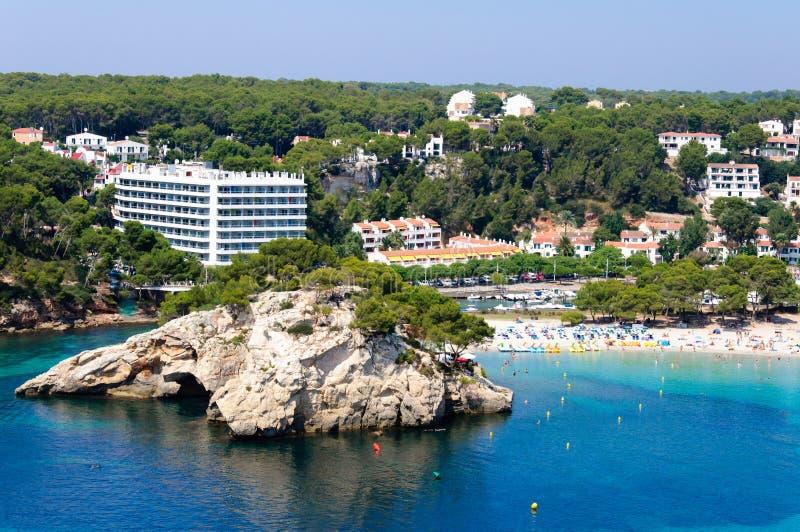 Playa de Cala Galdana, isla de Menorca, España fotografía de archivo libre de regalías