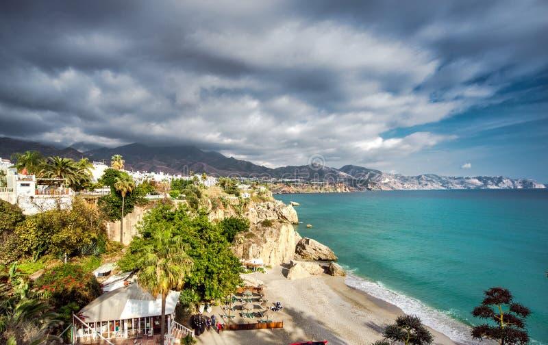 Playa de Calahonda imagen de archivo libre de regalías