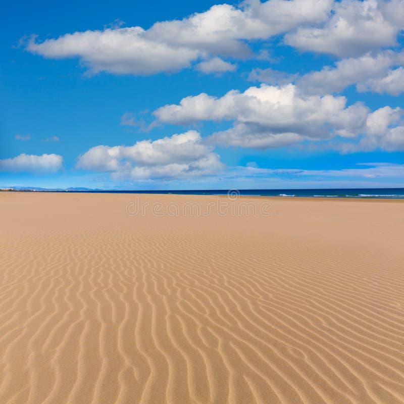 Playa de Canet de Berenguer en Valencia en España foto de archivo