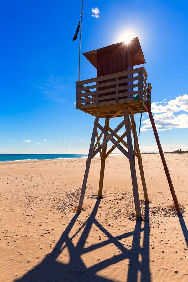 Playa de Canet de Berenguer en Valencia en España imágenes de archivo libres de regalías