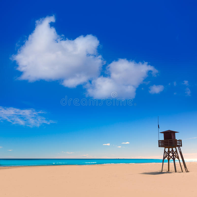 Playa de Canet de Berenguer en Valencia en España fotos de archivo