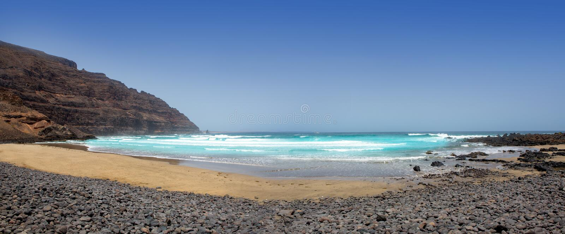 Playa de Cantera del la de Lanzarote Orzola Playa foto de archivo