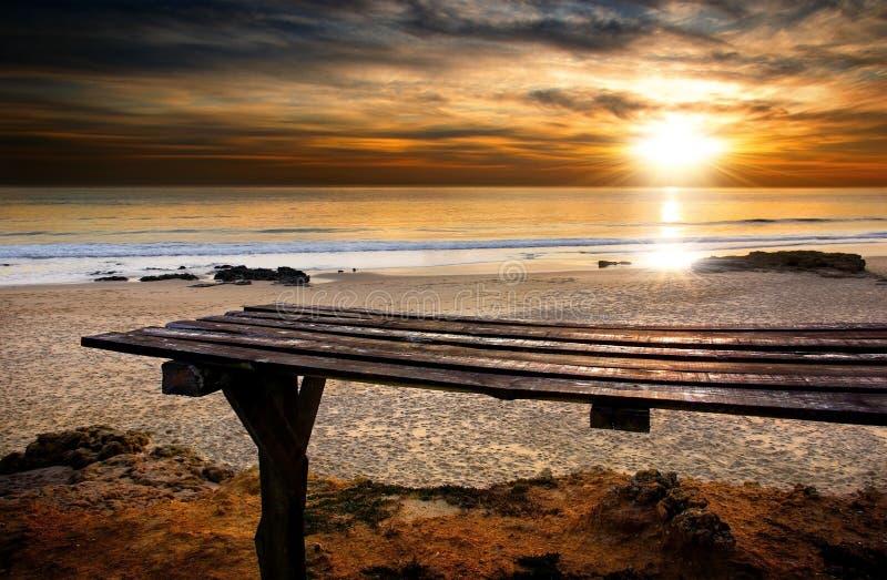 Playa de Carcavelos fotografía de archivo