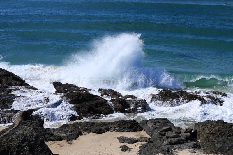 Playa de Carrumbin imagenes de archivo