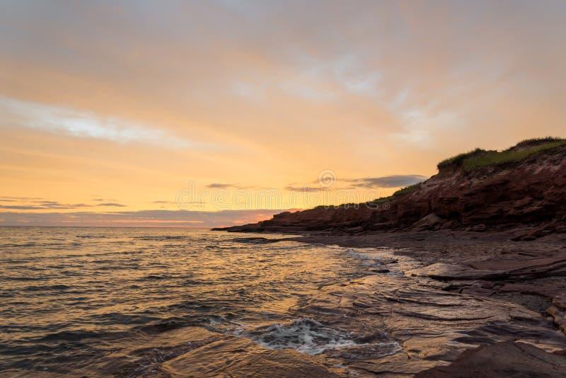 Playa de Cavendish por la mañana imagen de archivo libre de regalías