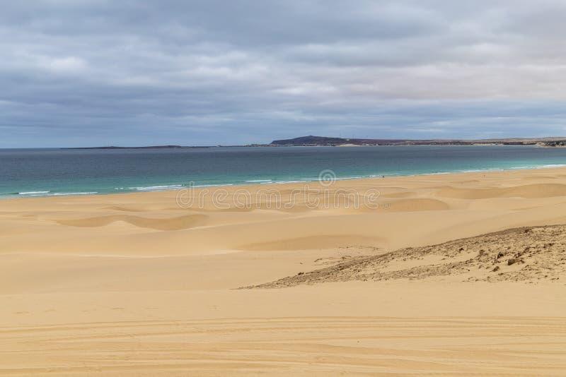 Playa de Chaves en verde de la ceja del vista de la boa foto de archivo