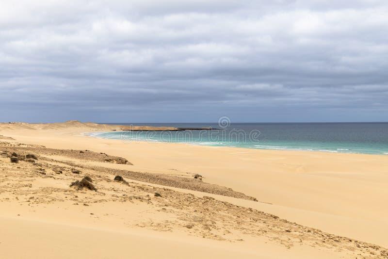 Playa de Chaves en verde de la ceja del vista de la boa fotos de archivo