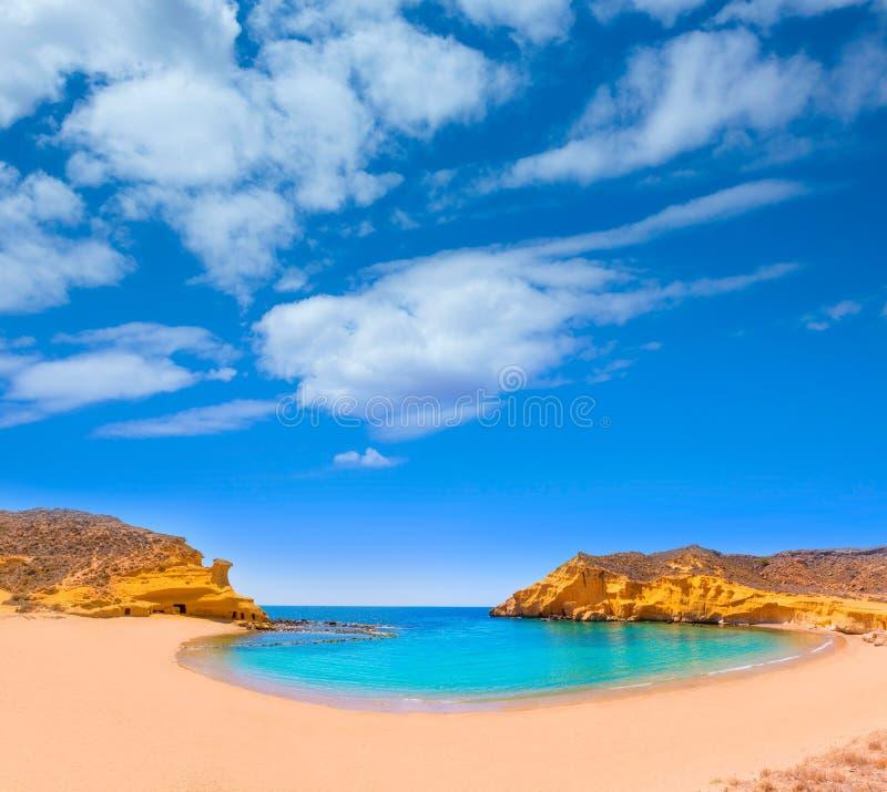 Playa de Cocedores en Murcia cerca de Aguilas España imagen de archivo