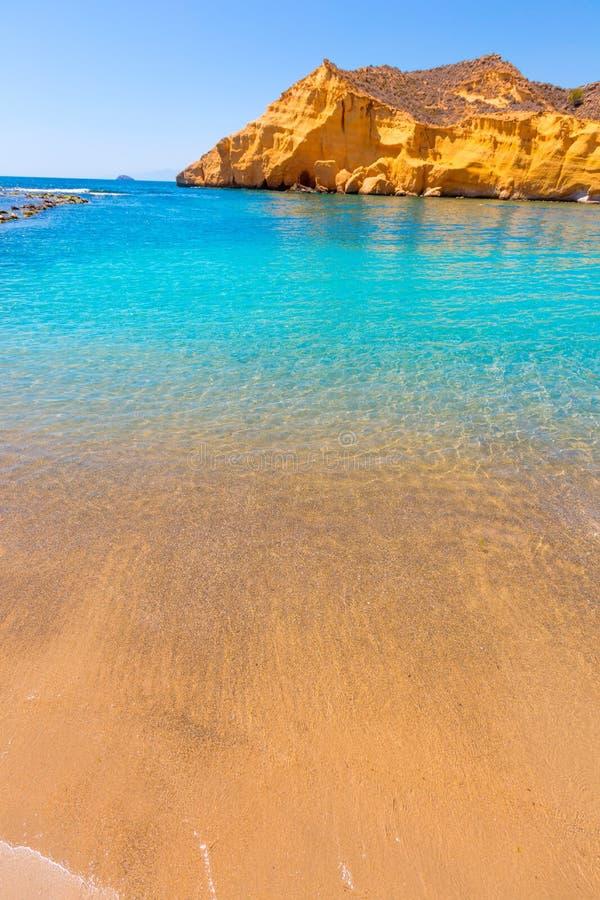 Playa de Cocedores en Murcia cerca de Aguilas España fotos de archivo