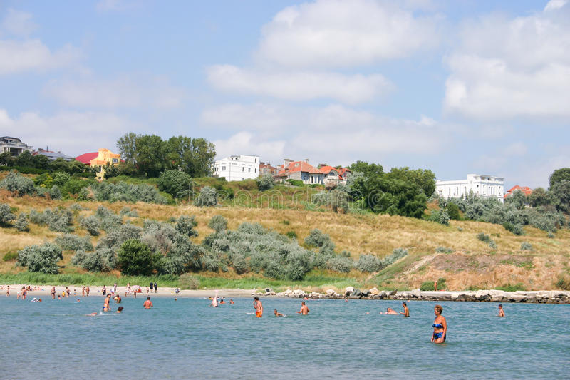 Playa de Constanta foto de archivo libre de regalías