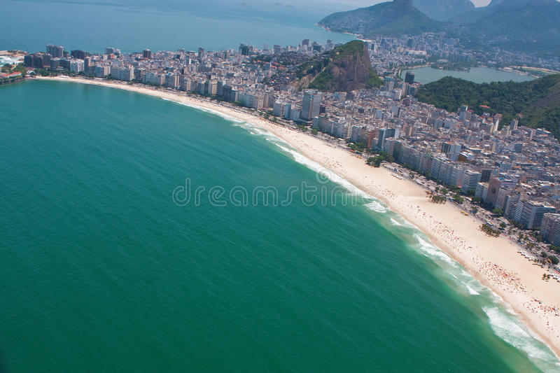 Playa de Copacabana foto de archivo