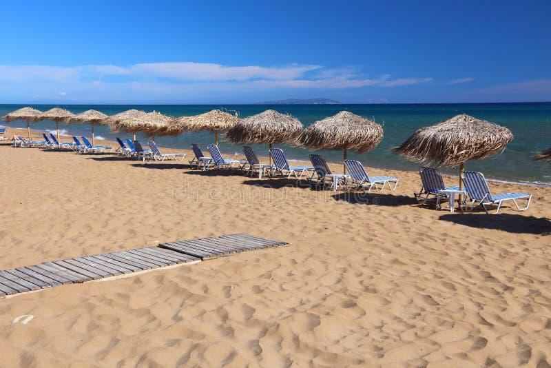 Playa de Corfú imágenes de archivo libres de regalías