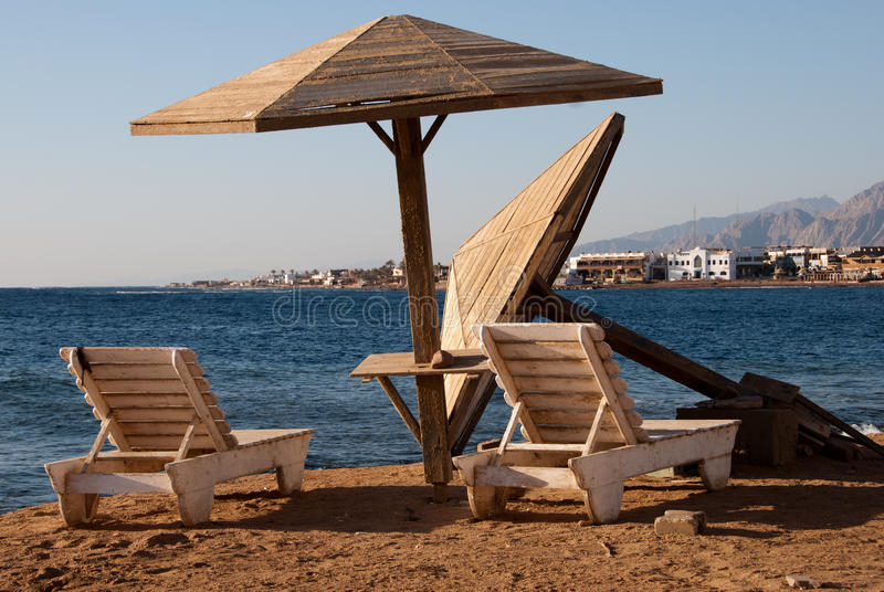 Playa de Dahab foto de archivo
