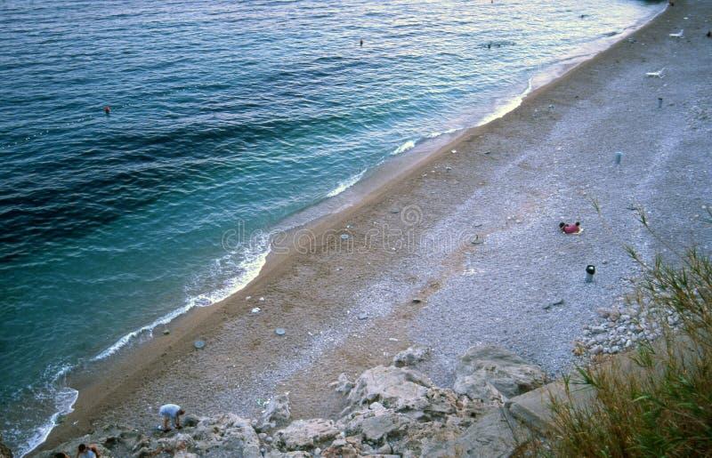 Playa de Dubrovnik - de Banje imagenes de archivo