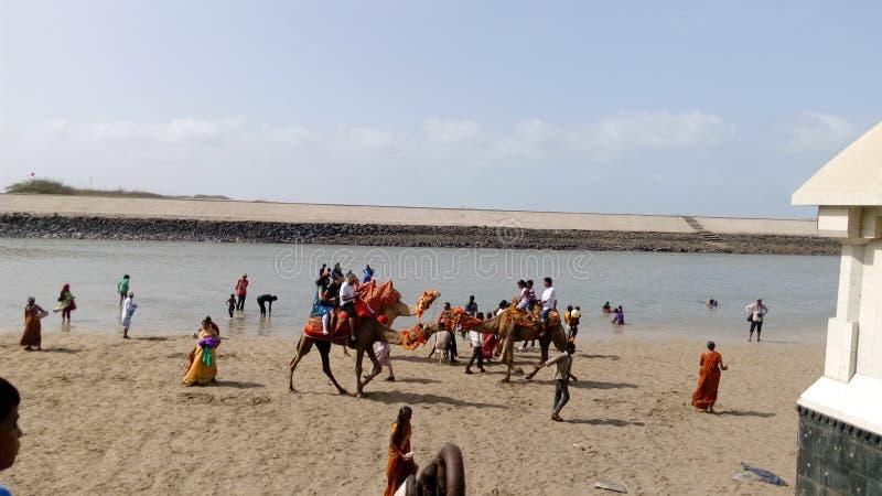 Playa de Dwarika imagenes de archivo