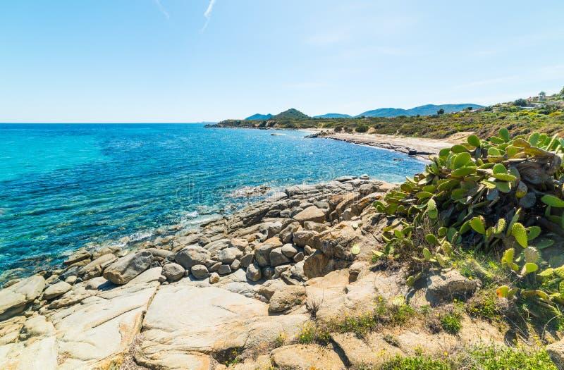 Playa de Elmo del ` de Sant en un día soleado imagen de archivo