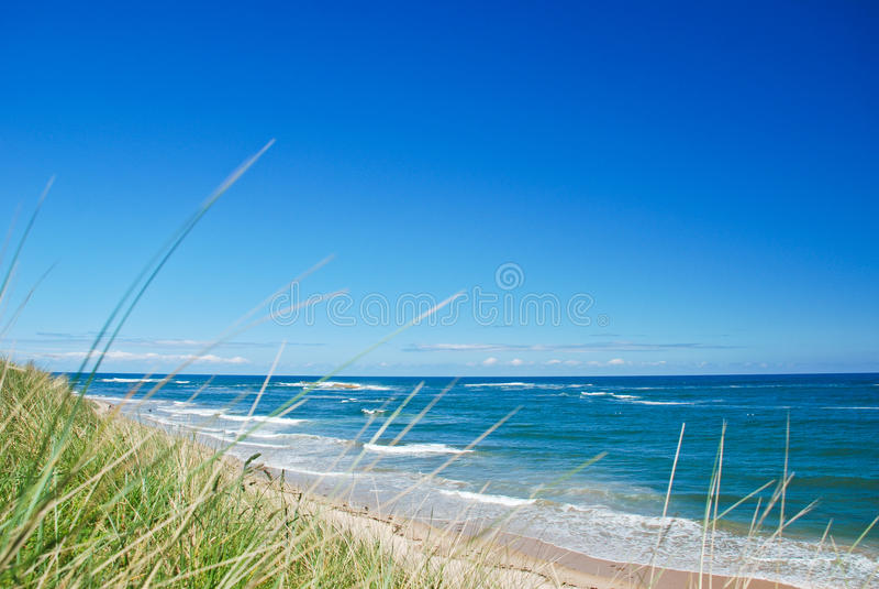 Playa de Embleton, Northumberland fotos de archivo
