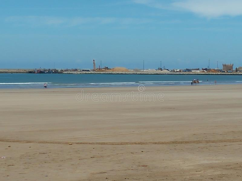 Playa de Essaouira imagenes de archivo