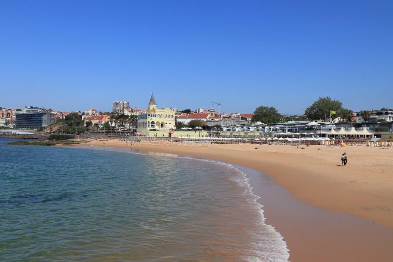 Playa de Estoril, Portugal fotografía de archivo libre de regalías