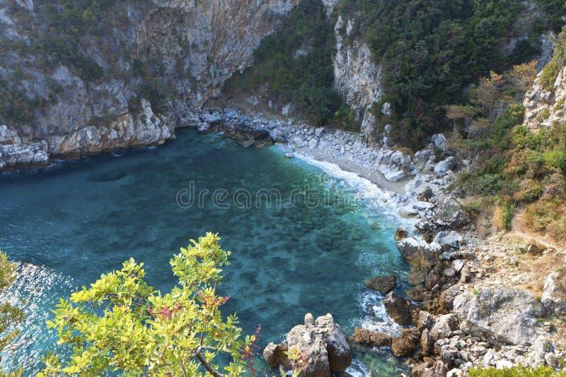 Playa de Fakistra en Pelion en Grecia fotos de archivo