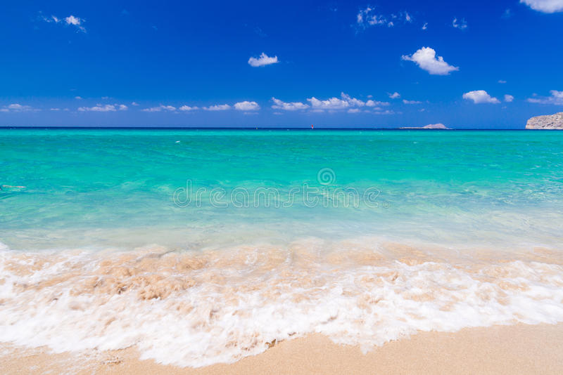 Playa de Falassarna, Creta imagen de archivo
