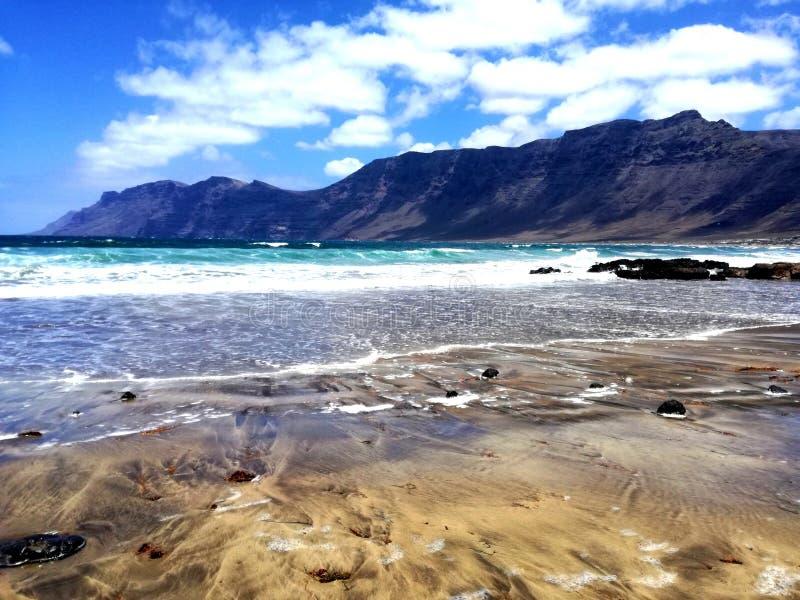 Playa de Famara lizenzfreies stockbild