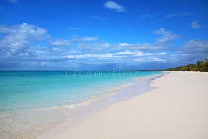 Playa de Fayaoue en la costa de la laguna de Ouvea, de Mouli y de las islas de Ouvea, islas de lealtad, Nueva Caledonia imagenes de archivo