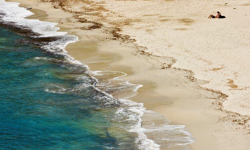 Playa de Fetovaia, Marina di Campo, isla de Elba, AIE imagen de archivo