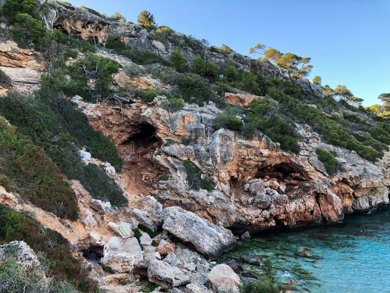 Playa DE Formentor Cala Pi DE La Posada, mooi strand bij GLB Formentor, Palma Mallorca, Spanje stock afbeelding