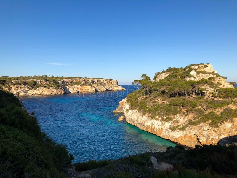Playa DE Formentor Cala Pi DE La Posada, mooi strand bij GLB Formentor, Palma Mallorca, Spanje royalty-vrije stock foto's