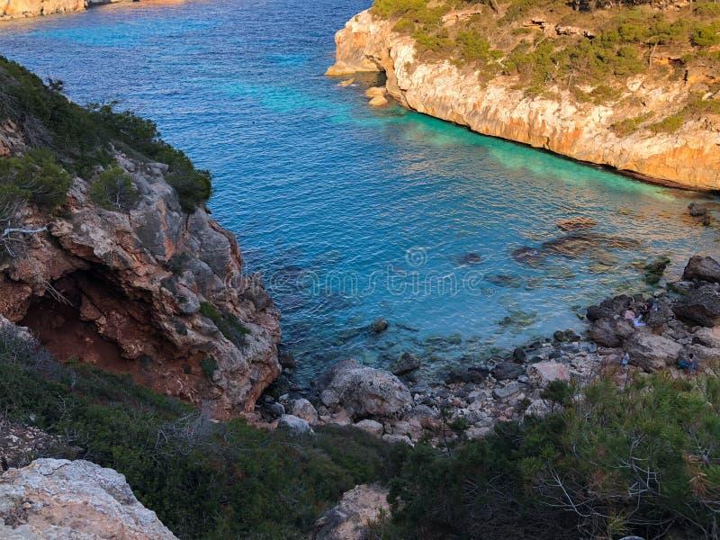 Playa DE Formentor Cala Pi DE La Posada, mooi strand bij GLB Formentor, Palma Mallorca, Spanje royalty-vrije stock afbeelding