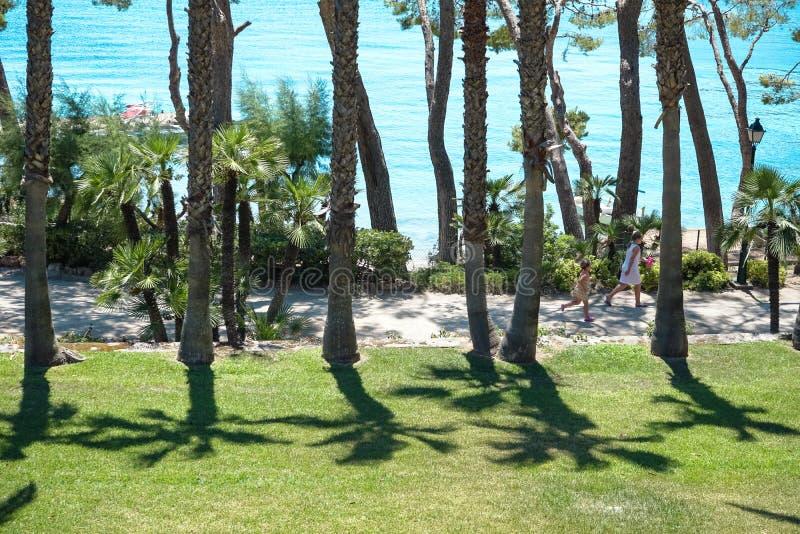 Playa de Formentor Cala Pi de la Posada, praia bonita no tampão Formentor, Palma Mallorca, Espanha imagem de stock royalty free