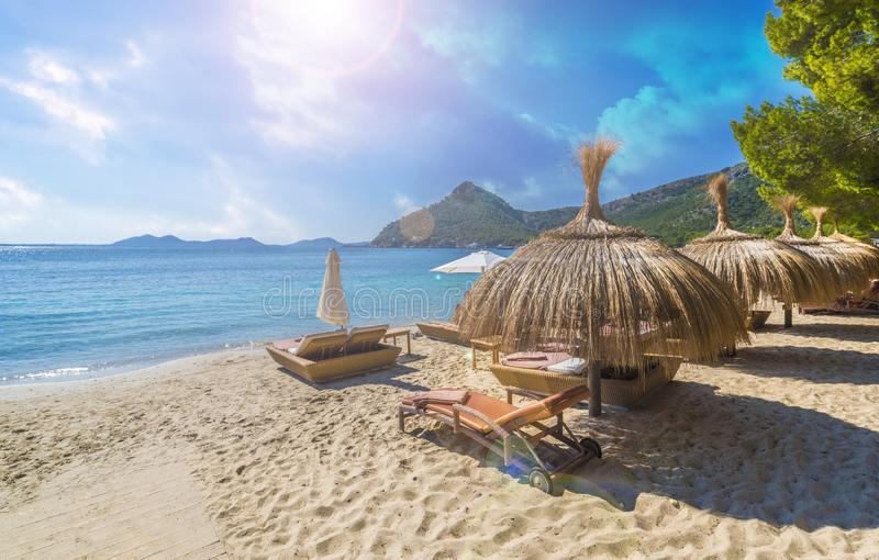 Playa DE Formentor Cala Pi DE La Posada, strand bij GLB Formentor, Palma Mallorca, Spanje royalty-vrije stock foto's