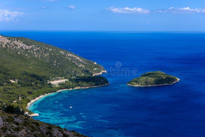 Playa DE Formentor - mooie kust van Mallorca - Spanje, Europa stock afbeelding