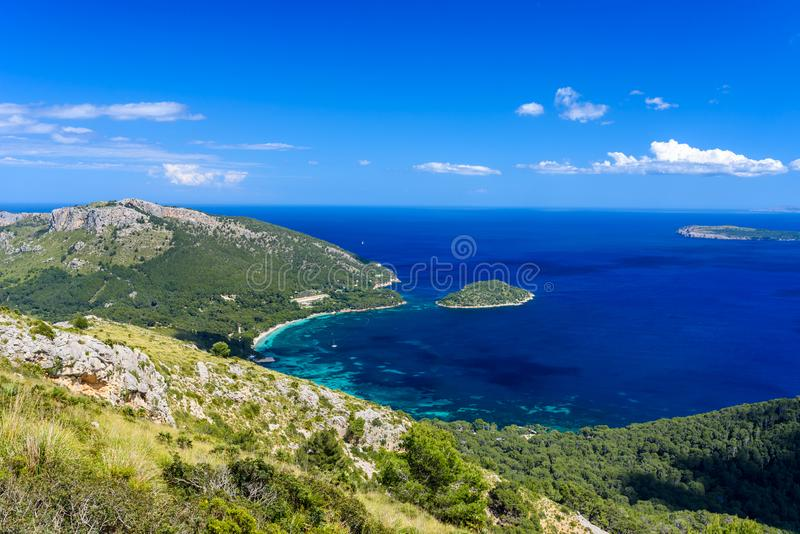 Playa DE Formentor - mooie kust van Mallorca - Spanje, Europa royalty-vrije stock afbeeldingen