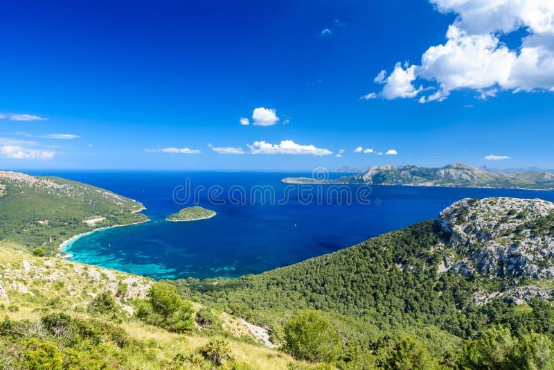 Playa DE Formentor - mooie kust van Mallorca - Spanje, Europa royalty-vrije stock afbeelding