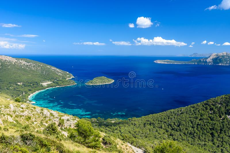 Playa DE Formentor - mooie kust van Mallorca - Spanje, Europa royalty-vrije stock foto