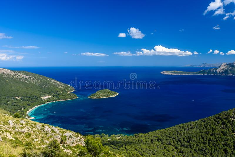 Playa DE Formentor - mooie kust van Mallorca - Spanje, Europa stock fotografie