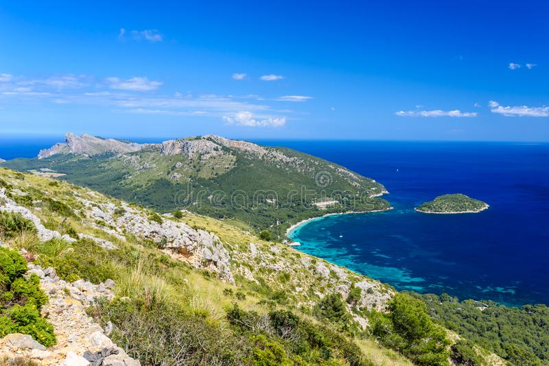 Playa DE Formentor - mooie kust van Mallorca - Spanje, Europa stock foto