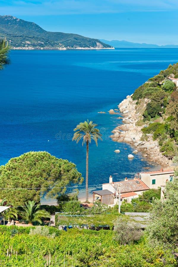 Playa de Forno, isla de Elba. fotografía de archivo
