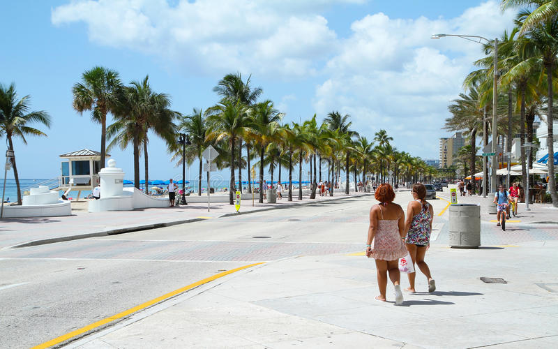 Playa de Fort Lauderdale fotos de archivo