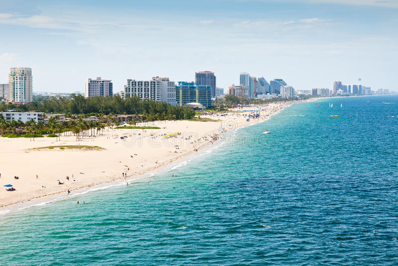 Playa de Fort Lauderdale, pie Lauderdale, la Florida fotos de archivo