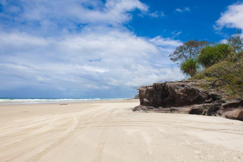 Playa de Fraser Island fotos de archivo