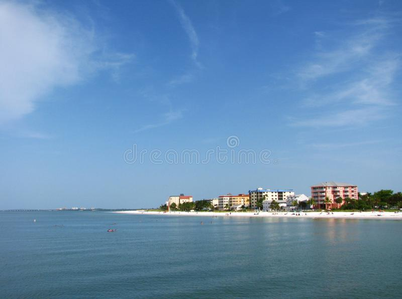 Playa de fuerte Myers, la Florida foto de archivo